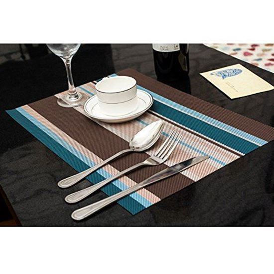 Picture Of Amorus Washable Placemats Heat Insulation Non Slip Table Mats  For Kitchen Dining Set