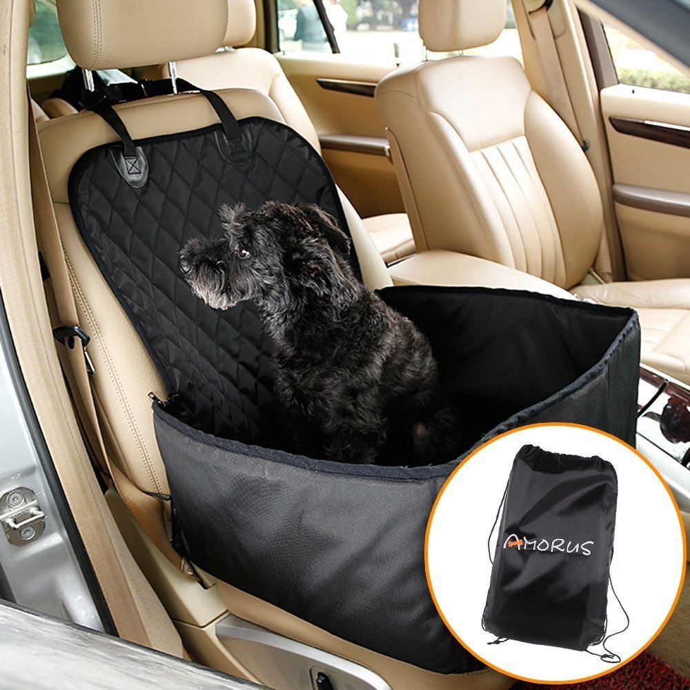Amorus 2 In 1 Design Waterproof Dog Car Front Seat Covers