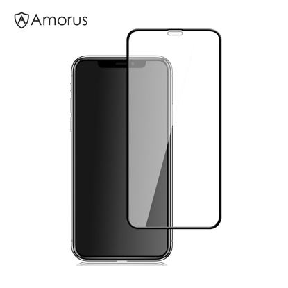 Picture of AMORUS Full Size Silk Print 9H Tempered Glass Screen Protector Film for iPhone Xs 5.8 inch