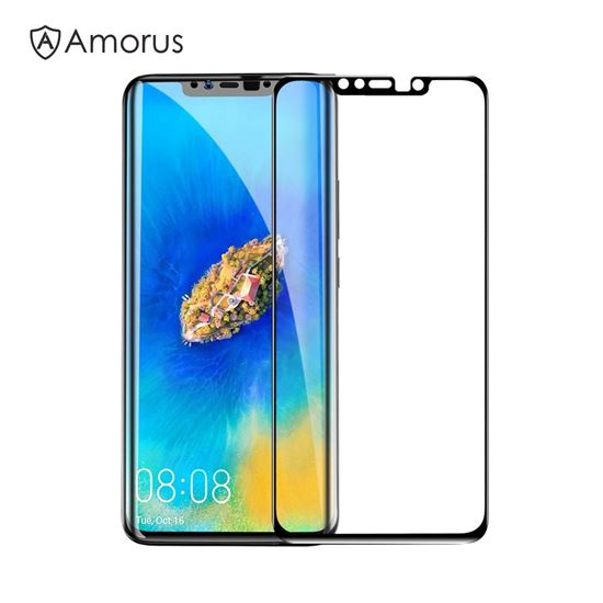 Picture of AMORUS 3D Curved Tempered Glass Anti-explosion Full Screen Protection Film for Huawei Mate 20 Pro - Black
