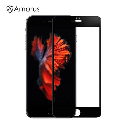 Picture of AMORUS for iPhone 7 4.7 inch 3D Curved Full Screen Tempered Glass Protector Guard 0.3mm - Black
