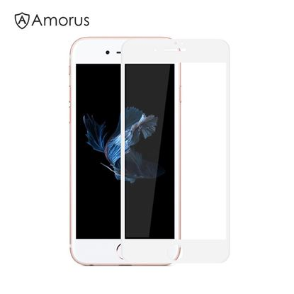 Picture of AMORUS for iPhone 7 4.7 inch 3D Curved Full Size Tempered Glass Screen Protector Film 0.3mm - White