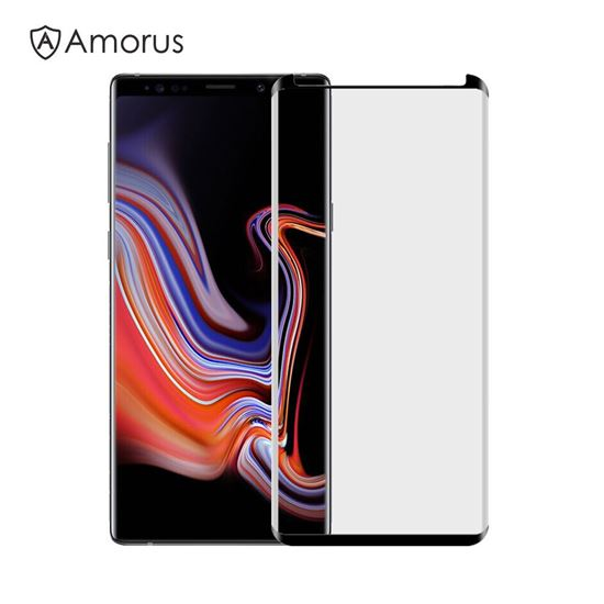 Picture of AMORUS Curved Tempered Glass Screen Protector Guard Film for Samsung Galaxy Note 9 (Opening on Top)
