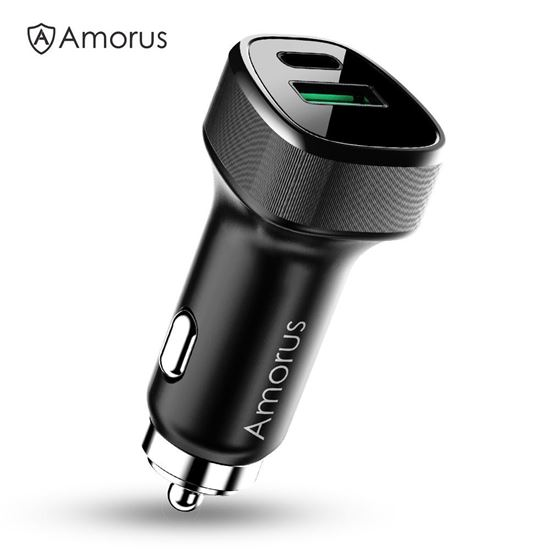 Picture of AMORUS CC-76 36W Mini QC3.0 Quick Type-C PD Fast Charging Car Charger Adapter